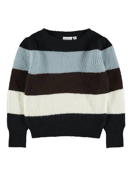Name it, Nkfofilla blå strikkagenser m/ striper